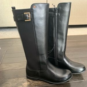 NEW Tommy Hilfiger Black Riding Boots Girls Size 4